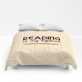 Reading is my lifeline Comforters