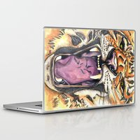 jaws Laptop & iPad Skins featuring Jaws by Heaven7