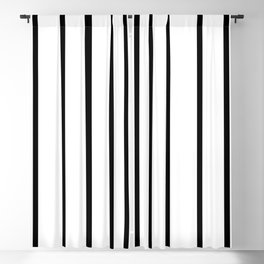 Simple Black and White Lines Decor Blackout Curtain