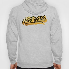New York Black and Gold awesome lettering Hoody
