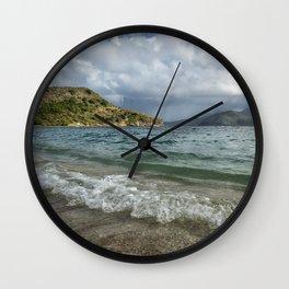 Beach at St. Kitts Wall Clock