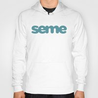 yaoi Hoodies featuring Seme by Clara Hollins