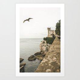 Flying on the castle Art Print