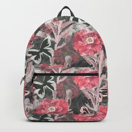 Red poppies . Backpack