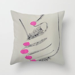 MANICURED Throw Pillow