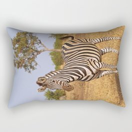 Zebra - Africa wildlife Rectangular Pillow