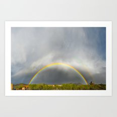 Rainbow Panorama Art Print