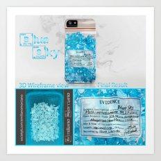 W.W. Blue Sky meth. (DEA Evidence) Art Print