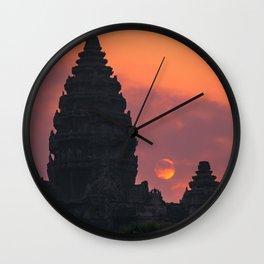 Cloudy sunrise at Angkor Wat Wall Clock