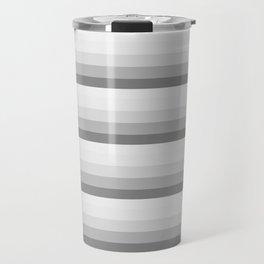 Gray Ombre Stripes Travel Mug