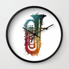 euphonium music art Wall Clock