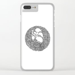 LOST IN HER DREAMS Clear iPhone Case