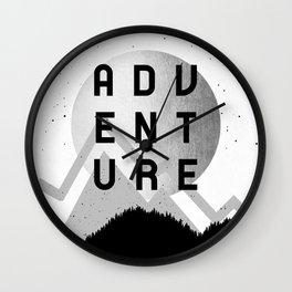 Adventure Silver Sunrise Wall Clock