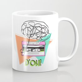 90s and 80s messy meme of cassette tape Coffee Mug