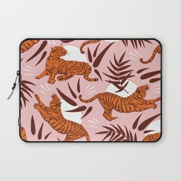 Vibrant Wilderness / Tigers on Pink Laptop Sleeve