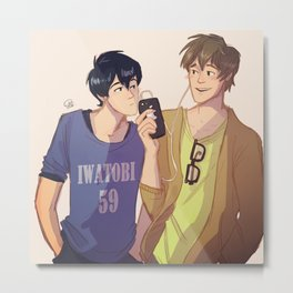 Mako and Haru Metal Print