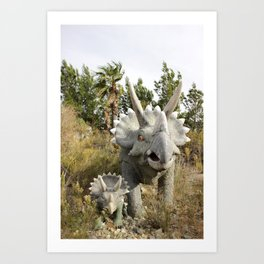 Cabazon Dinosaur Adventure Art Print