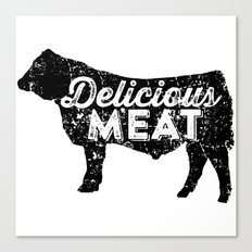 Delicious Meat Canvas Print