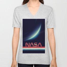 NASA Earthrise Unisex V-Neck