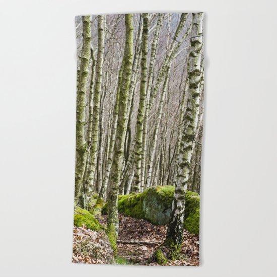 Birches Beach Towel
