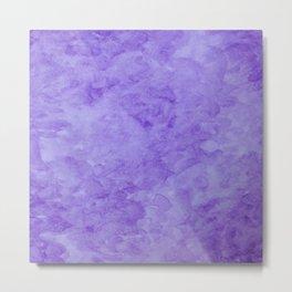 Purple watercolor Metal Print