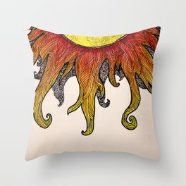 i really just want to be warm yellow light that pours over everyone i love Throw Pillow