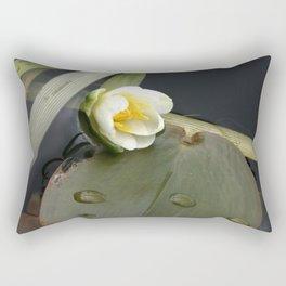 Zen Water Lily Rectangular Pillow
