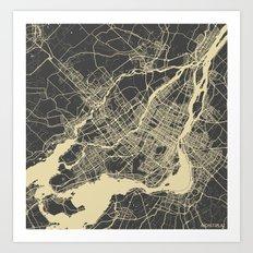 Montreal Map Art Print