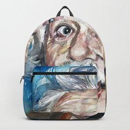 ALBERT EINSTEIN - watercolor portrait Backpack