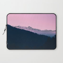 Pink Sunset Rolling Hill Silhouette Landscape Photo Laptop Sleeve