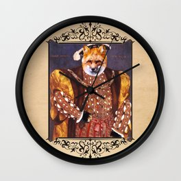 Henry VIII Fox Poster Wall Clock