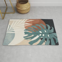 Abstract Art Tropical Leaves  Rug