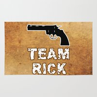 rick grimes Area & Throw Rugs featuring Team Rick by Jera Sky