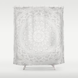 Mandala Soft Gray Shower Curtain