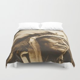 Chief Running Antelope - Native American Sioux Leader Duvet Cover