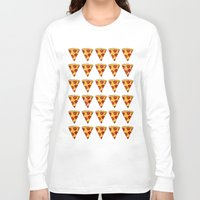 pizza Long Sleeve T-shirts featuring PIZZA by Kaitlin Smith