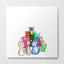 Gang of cats Metal Print