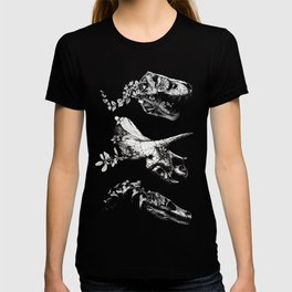Jurassic Bloom - Black version. T-shirt