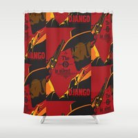 django Shower Curtains featuring Django: The D is Silent by Posters 4 Progress