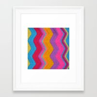 funky Framed Art Prints featuring Funky by Wild Daffodil