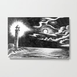 It was a dark and stormy night Metal Print