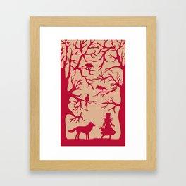 Red Riding Hood Framed Art Print