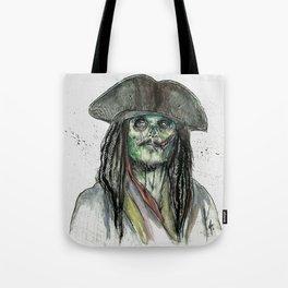Captain Jack Zombie Tote Bag