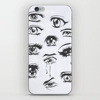 anime iPhone & iPod Skins featuring anime eyes by CALM OCEANS™