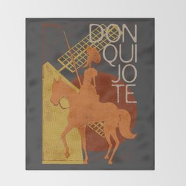 Books Collection: Don Quixote Throw Blanket