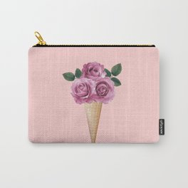 Floral Ice Cream Carry-All Pouch