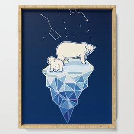 Polar bears on iceberg Serving Tray
