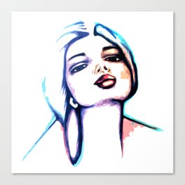 She Glows Blue Canvas Print