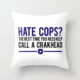 Cops Throw Pillow