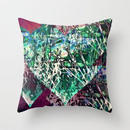 Natures heartbeat Throw Pillow